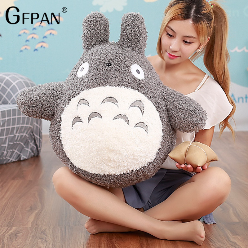 1pc 30-70cm kawaii Japanese style Studio Ghibli anime cat stuffed animal,Long My Neighbor Totoro Pillow plush toys Doll Cushion(China)
