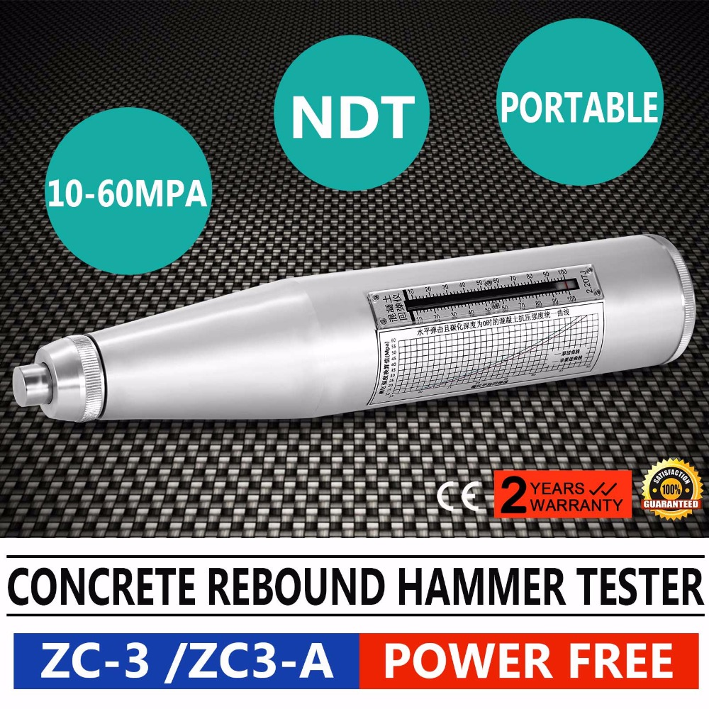 ZC-3/ZC3-A Portable Concrete Rebound Hammer Tester NDT Resiliometer Schmidt HammerZC-3/ZC3-A Portable Concrete Rebound Hammer Tester NDT Resiliometer Schmidt Hammer