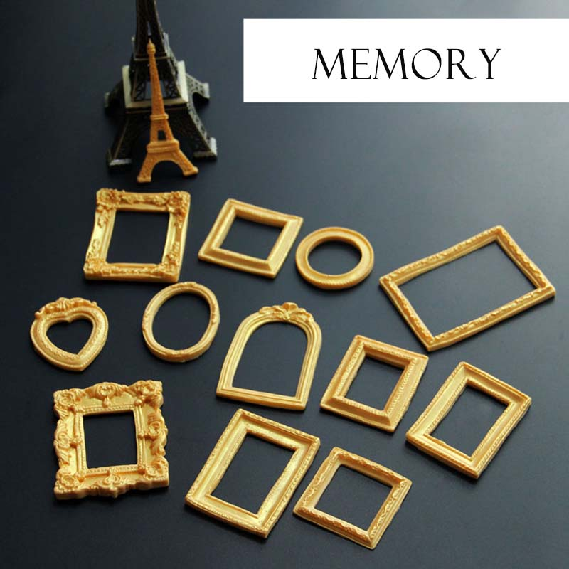 Diy Photo Frame Mirror 3d Silicone Mold Cake Decoration