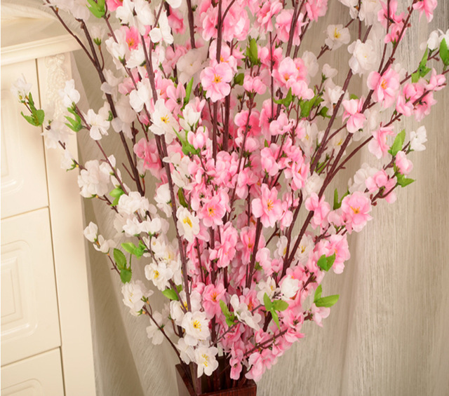 Emulate High Peach Home Furnishing Export Silk Flower Living Room Decorative Blossom