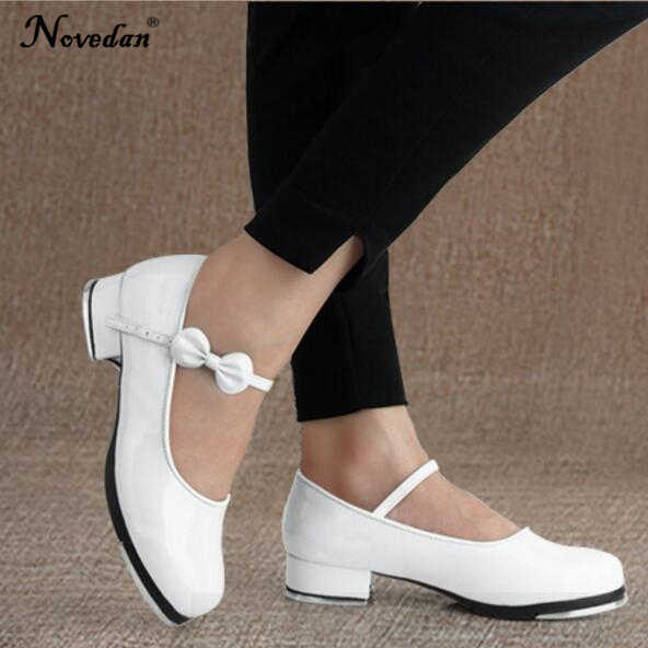 Black And White Tap Shoes Women Girls