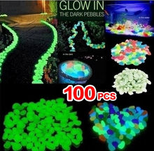 100Pcs Glowing In The Dark Pebbles Stones Home Fish Tank Outdoor Garden Decor Luminous Stones Natural Stones and Minerals
