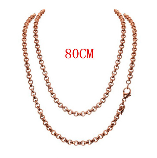 US $1 88 20% OFF|Top Selling 80cm Rolo Chain Link Chains Necklace with  Lobster Clasps Factory Price for Coin Pendant -in Chain Necklaces from  Jewelry