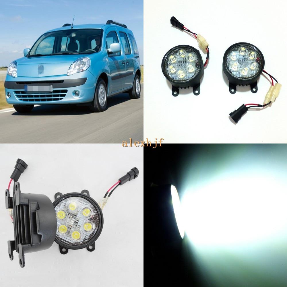 July King 18W 6LEDs H11 LED Fog Lamp Assembly Case for Renault Kangoo 2003~ON etc, 6500K 1260LM Daytime Running Lights