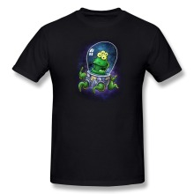 Printed Short Sleeve Friendly Neighbourhood Alien men's tshirt Promotion 100 % Cotton T Shirt for men