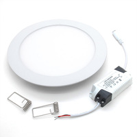 65 Pcs 9W round dimmable LED downlight emergency LED panel / painel light lamp for bedroom luminaire