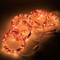 50 M/164Ft 500 Leds 5 Pacote Conectável Série 3 V 33Ft/10 M 100 LED Fio de Cobre Corda estrelado Luzes De Natal Cortina de Luz