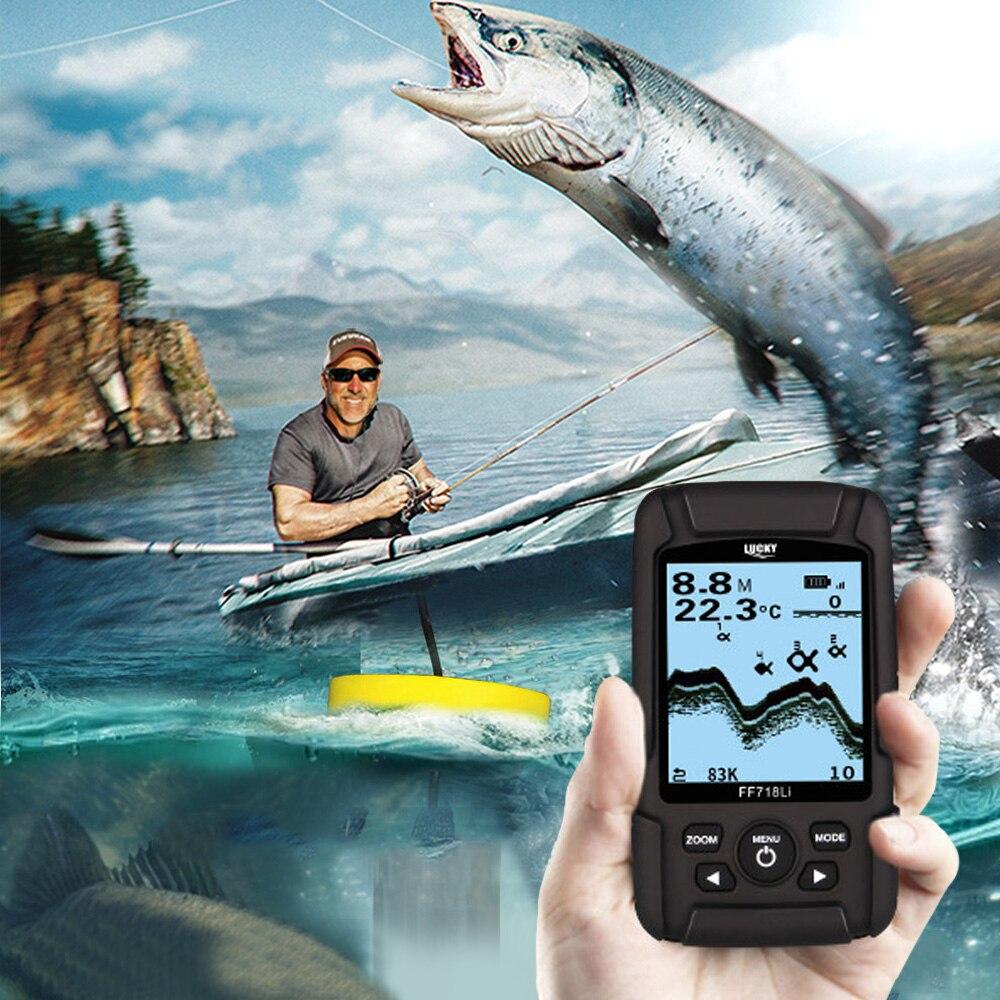 LUCKY FF718LiD Беспроводной Sonar Портативный эхолот Рыбалка Шестерни Водонепроницаемый эхолот двойной Sonar 200 кГц частота рыбы детектора