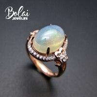 Bolaijewelry, натуральный большой размеры Эфиопский Опал Овальный 10*14 мм огненный опал элегантный драгоценный камень кольцо 925 серебро для женщин