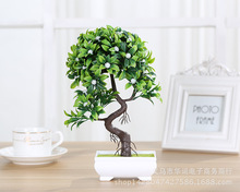 5Colors Plastic Artificial Flowers Tree Bonsai Landscape Pot Culture Simulation Plants Office Home Garden Furnishings Decorative