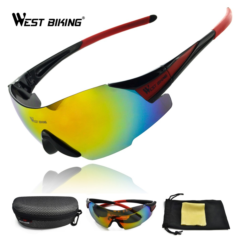WEST BIKING Men Super Sunglasses Outdoor Sport Goggles Windproof Anti-UV Oculos Driving Sunglasses Cycling Eyewear Glasses
