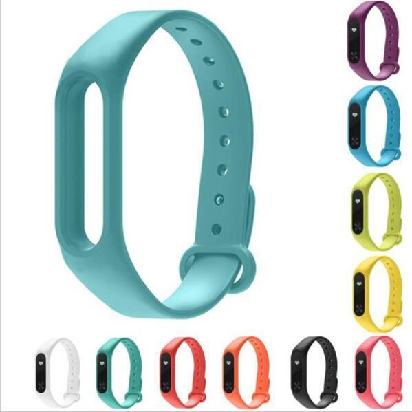 Schleimiges Mode Doppel Farbe Silikon Handschlaufe Für Xiaomi Mi band 2 Smart Band mit Multi farben Ersatz Strap handgelenk