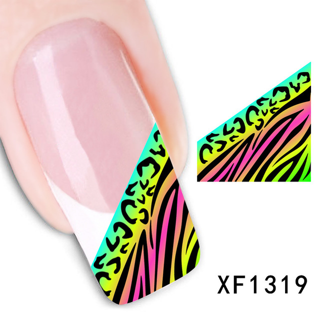 2017 Promotion Limited Manicure Nails 2 Sheets Watermark Nail Stickers Flowers Row Of Pens Manufacturers Xf1319