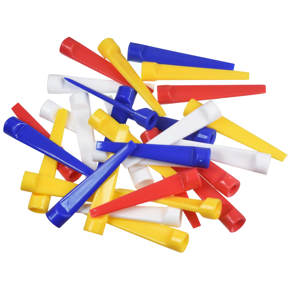 Mix Colors 30 Pcs 70mm Golf Tees Ball Holder Flat Duckbill Ball Tees Golf Duck Tee Golf Plastic Tee 7.0CM