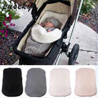2018 grosso bebê swaddle envoltório malha envelope recém-nascido saco de dormir do bebê quente swaddling cobertor infantil carrinho de dormir saco footmuff