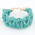 Joyería moda de verano granos hechos a mano cadena pulseras y brazaletes estrella estilo bohemio pulsera Femme Bijoux encanto pulseras