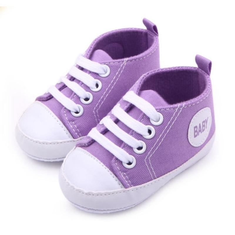 0-12 M Baru Lahir Balita Sepatu Kanvas Bayi Laki-laki Perempuan - Sepatu bayi - Foto 4