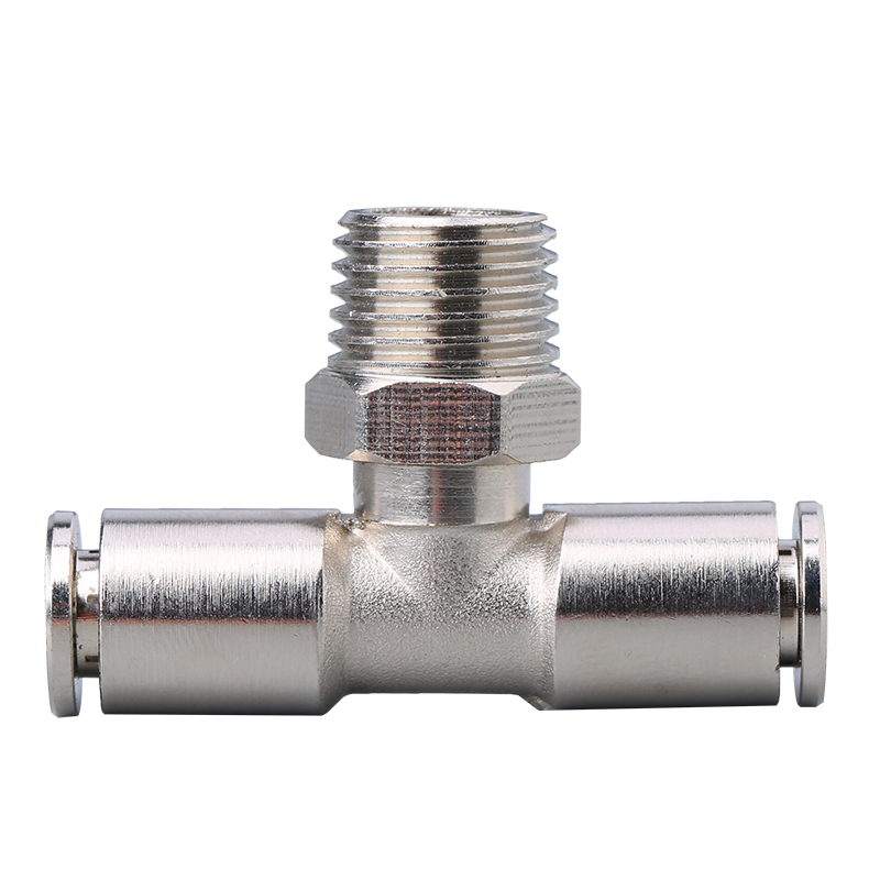 uxcell 10mm Tube to 3//8NPT Push Lock Fitting,Brass Nickel Plated Quick Tube Fittings
