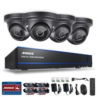 ANNKE Security System 4ch CCTV System DVR DIY Kit 4 X 1080P Security Camera 2 0mp