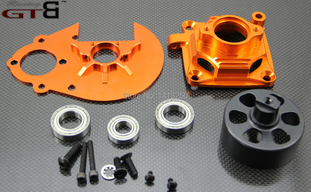 1/5 Baja Clutch System Gear Plate ,Clutch Bell Mount , Clutch Bell,17mm clutch cup,30mm bearings,fit HPI ROVAN KM baja 5B 5T SC mz15 mz17 mz20 mz30 mz35 mz40 mz45 mz50 mz60 mz70 one way clutches sprag bearings overrunning clutch cam clutch reducers clutch
