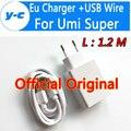 UMI SUPER USB Cabo do Carregador de Alta Qualidade 100% Original DA UE Carregador rápido + 1.2 M Fio USB Para Umi Super/Umi Plus/UMI Z telefone