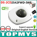 Английская Версия Беспроводная Ip-камера DS-2CD2542FWD-IWS Full HD WDR 4MP Встроенный Микрофон Аудио Вход Поддержка Домашней безопасности WI-FI Камера