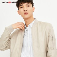 JackJones Men's Pure Color Zip through Baseball Jacket E|218221503