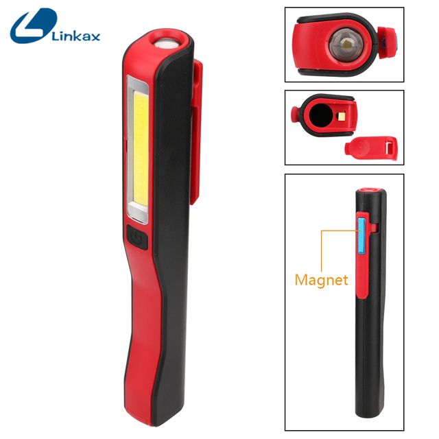 Portable Cob Led Flashlight Magnetic Work Light Rechargeable 180 Degree Stand Hanging Usb Torch Lamp For Night Hunting