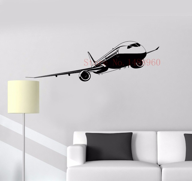 E629 Vinyl Wall Sticker Home Decor Wall Decals Wall Mural Helicopter ...