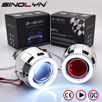 LHD RHD Retrofit Mini H1 2 5 Inch HID Bi Xenon Projector Headlight Lens Kit H1