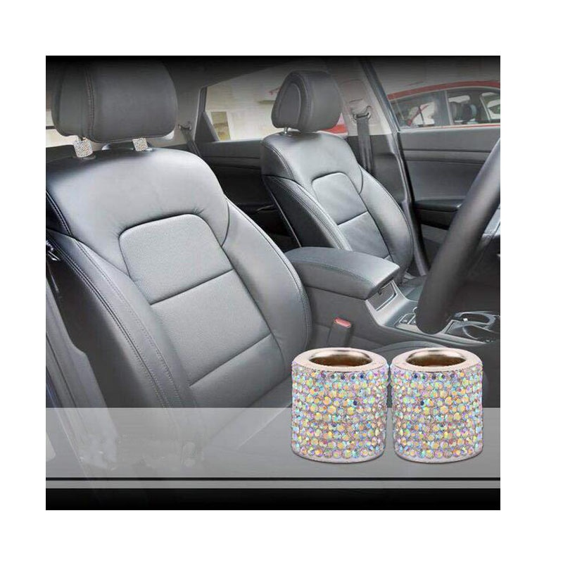 CDCOTN New Styling 2Pcs Car Seat Headrest Crystal Diamond Headrest Decoration Ornaments Car Interior Accessories Auto Products in Neck Pillow from Automobiles Motorcycles