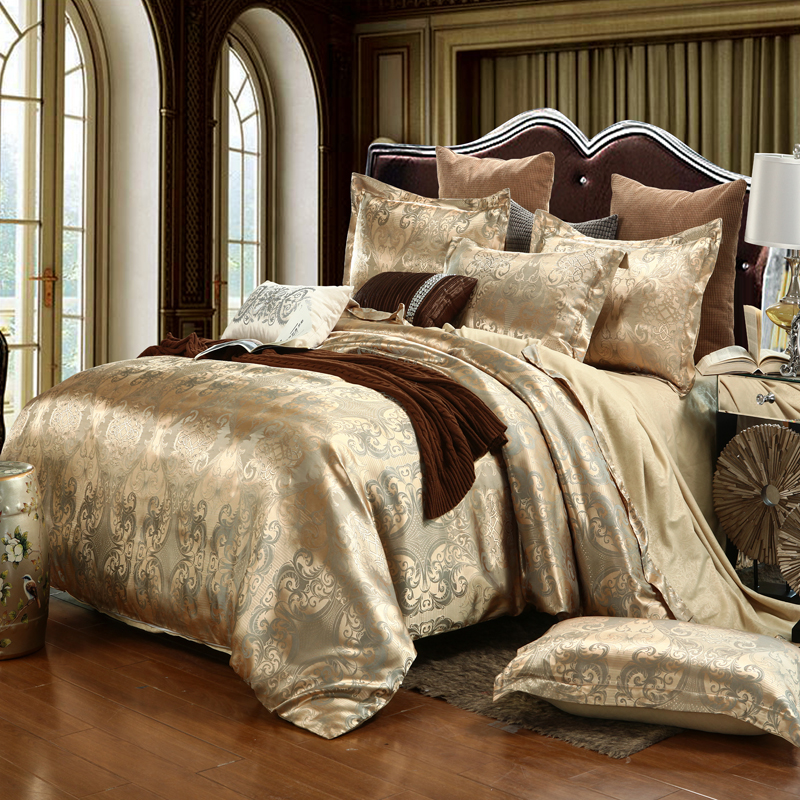 Luxury Bedding Sets Jacquard Queen King Size Duvet Cover