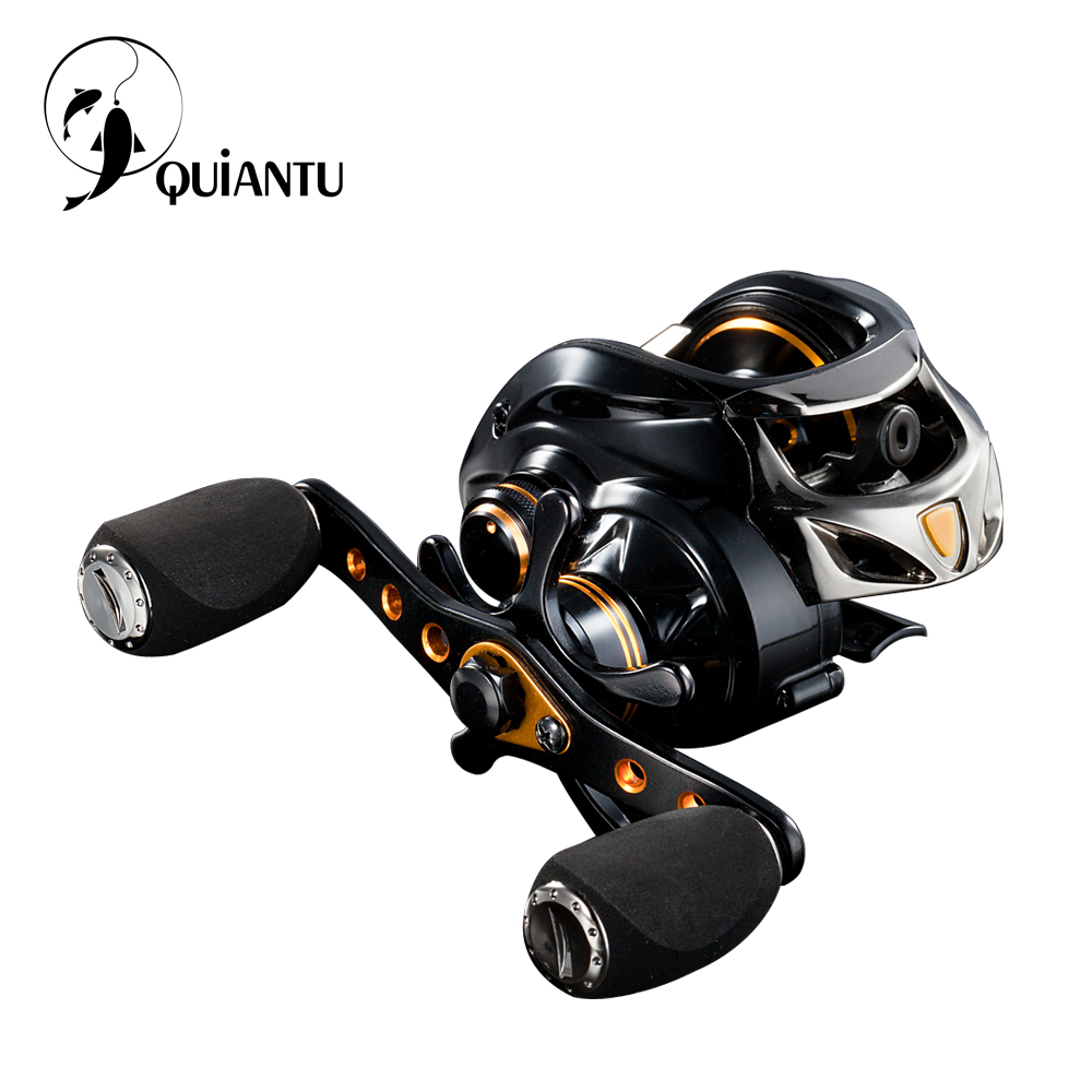 QUIANTU Fishing Reel Right or Left Baitcasting Reel 18BB 6.3:1 Spinning Fishing Reel Magnet and Spinning Top Dual Brake Pesca 3bb ball bearings left right interchangeable collapsible handle fishing spinning reel se200 5 2 1 with high tensile gear red