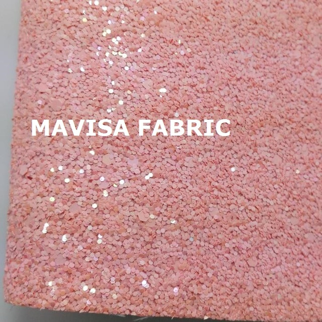 J035 30x134cm Pink Chunky Glitter Leather Fabric For Making Bows Shoes Handbags And