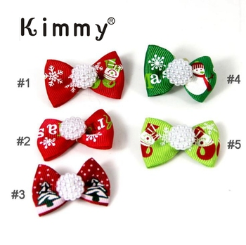 Dog Cat Grooming Accessories Hair Bow for Christmas Party