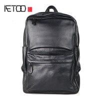 Aetoo сумка Для мужчин головы коровьей Бизнес рюкзак кожа студент