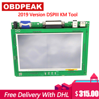 New Version Odometer Correction Tool DSP3 DSPIII KM Tool DSP 3 DSP III Work for 2010 2019 Years New Models By OBD2 DHL Shipping