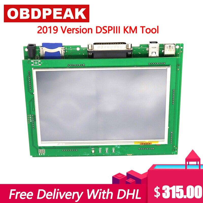 Nova Versão KM Ferramenta Ferramenta de Correção de Odômetro DSP3 DSPIII 3 DSP DSP III Trabalhar para 2010-2019 Anos Novo modelos Por OBD2 DHL Grátis