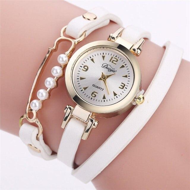 Fashion Women's Watches Bracelet Watch Leather Quartz Watch New Casual Wrap Arou