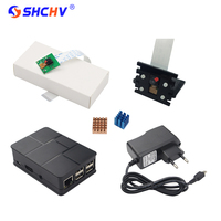 Raspberry Pi 5MP Camera ABS Case RPI Camera Bracket Heat Sink 5V2A Power Charger Adapter For
