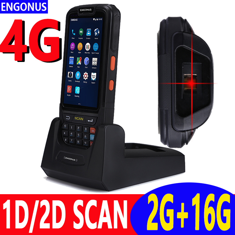 2018 new pda barcode scanner wireless 2d usb portable scanner ip65 gps rugged pda barcode reader office electronic 1d nfc rfid