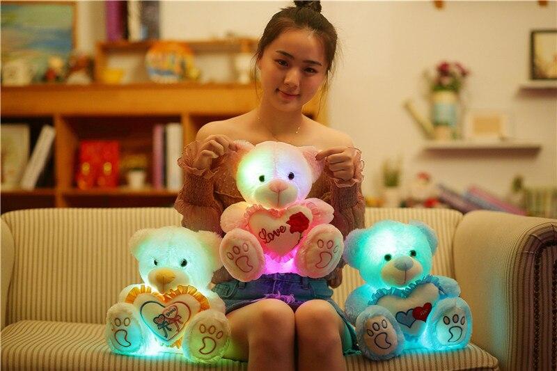 Bonito Abraço de Urso Ouvir Brinquedos Luminosa