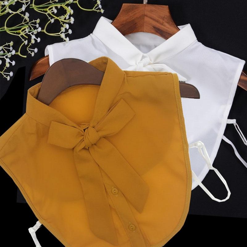 White Fake Collar Women Detachable Collars For Women Clothes Shirt False Collar Shirt Lace Detachable Beaded Collar Nep Kraagie