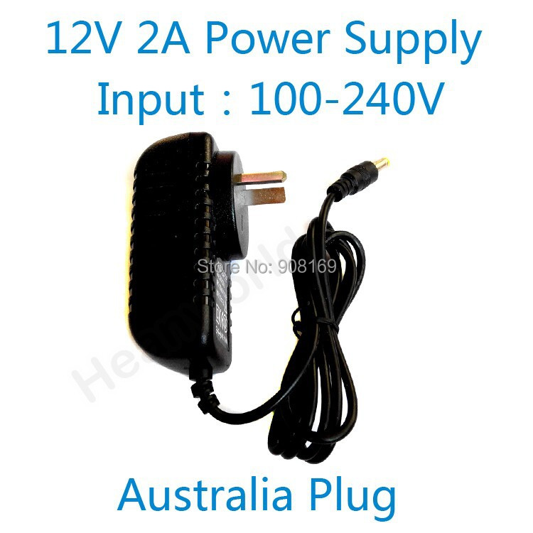 DC12V2A good quality Power supply adapter Australia plug for CCTV camera IP camera and DVR,AC100-240V to DC12V2A Converter 12v 5a 8ch power supply adapter work for cctv suveillance camera system dc 12v power supply 8 port dc pigtail coat