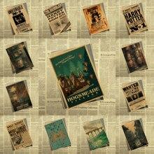 Гарри Поттер Ретро плакат ретро Kraft Бумага кафе Домашний Декор роспись стены Стикеры № 2
