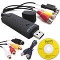 NOVO USB Easycap Adaptador de Captura de Vídeo TV DVD VHS placa de Captura de CCTV Câmera de captura de Áudio AV para Computador USB 2.0 EasyCAP DC60 5 Pçs/lote