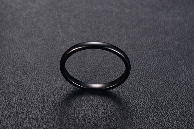 fashion lady's 2mm tungsten steel ring light small rings for women female woman jewelry tungsten jewelry wholesale 3 colors