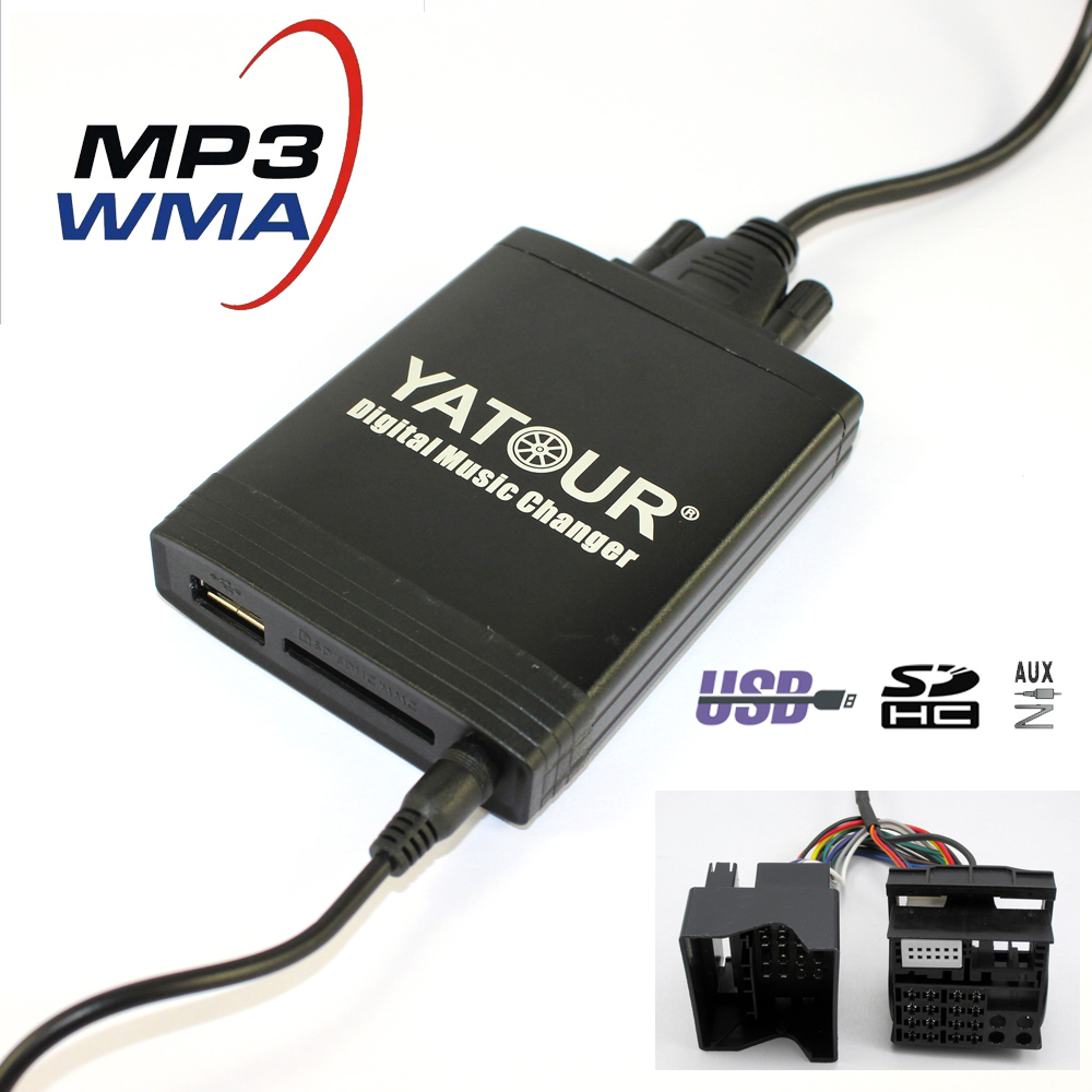 Yatour YT-M06 For BMW Mini Cooper Rover fakra 40-pin Flat  Car USB MP3  SD AUX adapter Digital CD Changer interface набор приспособлений для обслуживания грм двигателя bmw n12 mini cooper jonnesway al010079