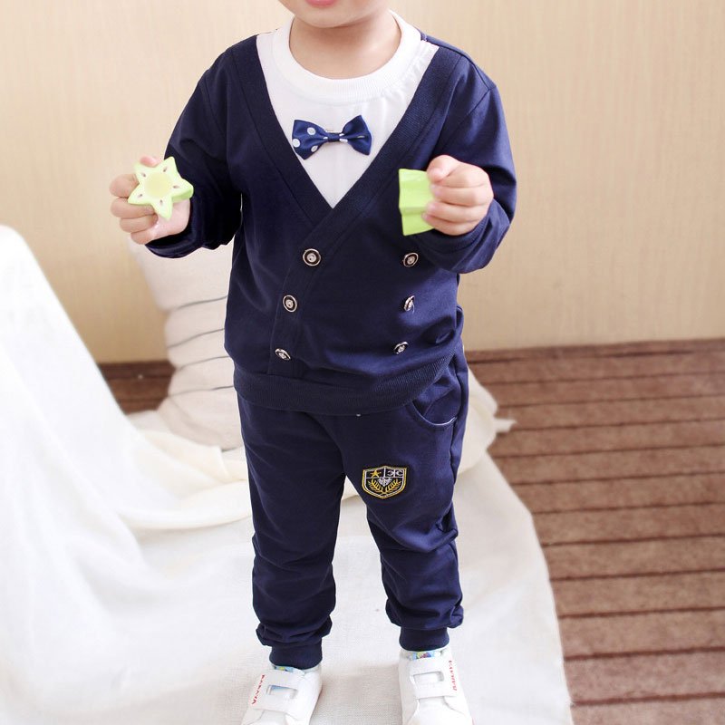 Spring Autumn Baby Boy Clothes Set Children Clothing Sets Sweater fabric Kids Clothes Baby Boys T shirts Pants 2PCS Tracksuit in Clothing Sets from Mother Kids