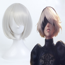 Hot Game NieR:Automata Cosplay Wigs NieR Automata 2B YoRHa No.2 Type B Heat Resistant Synthetic Anime Wig Halloween
